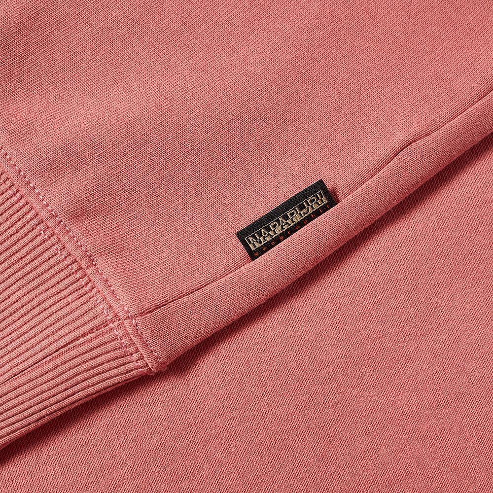 Napapijri Box Logo Crew Sweat - Pink Lulu