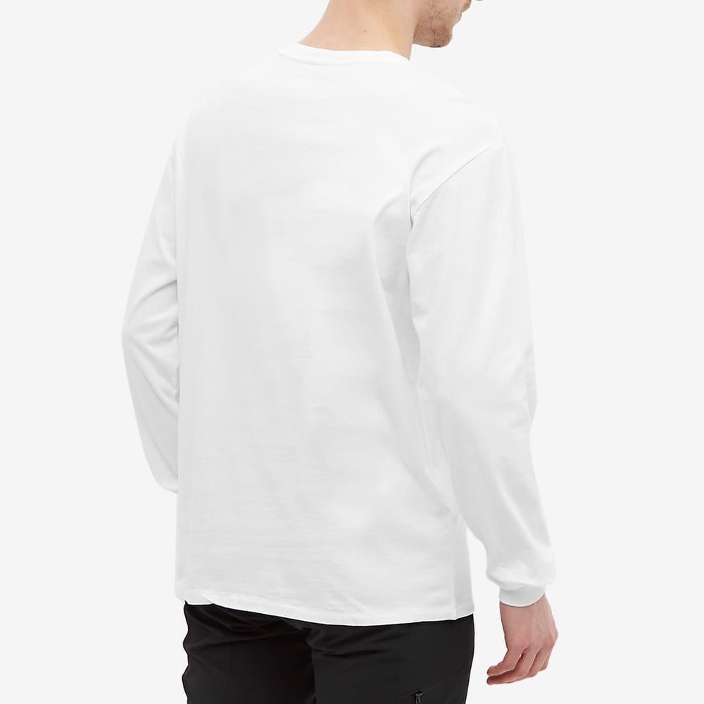 Napapijri Long Sleeve Sox Box Logo Tee - Bright White