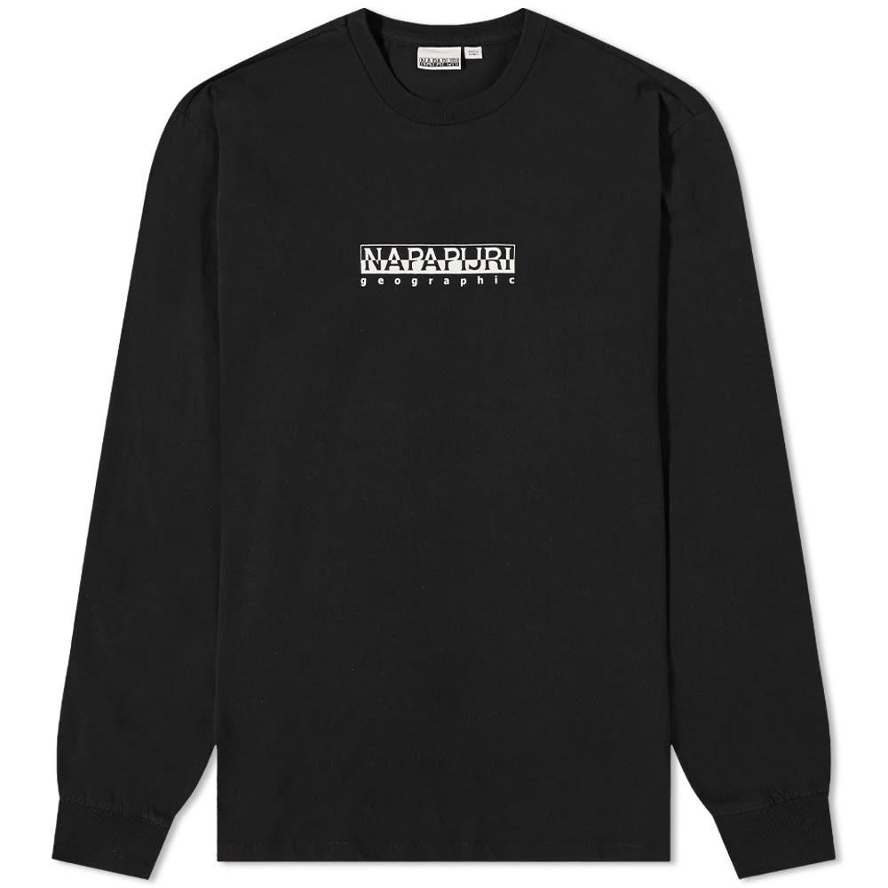 Napapijri Long Sleeve Sox Box Logo Tee - Black