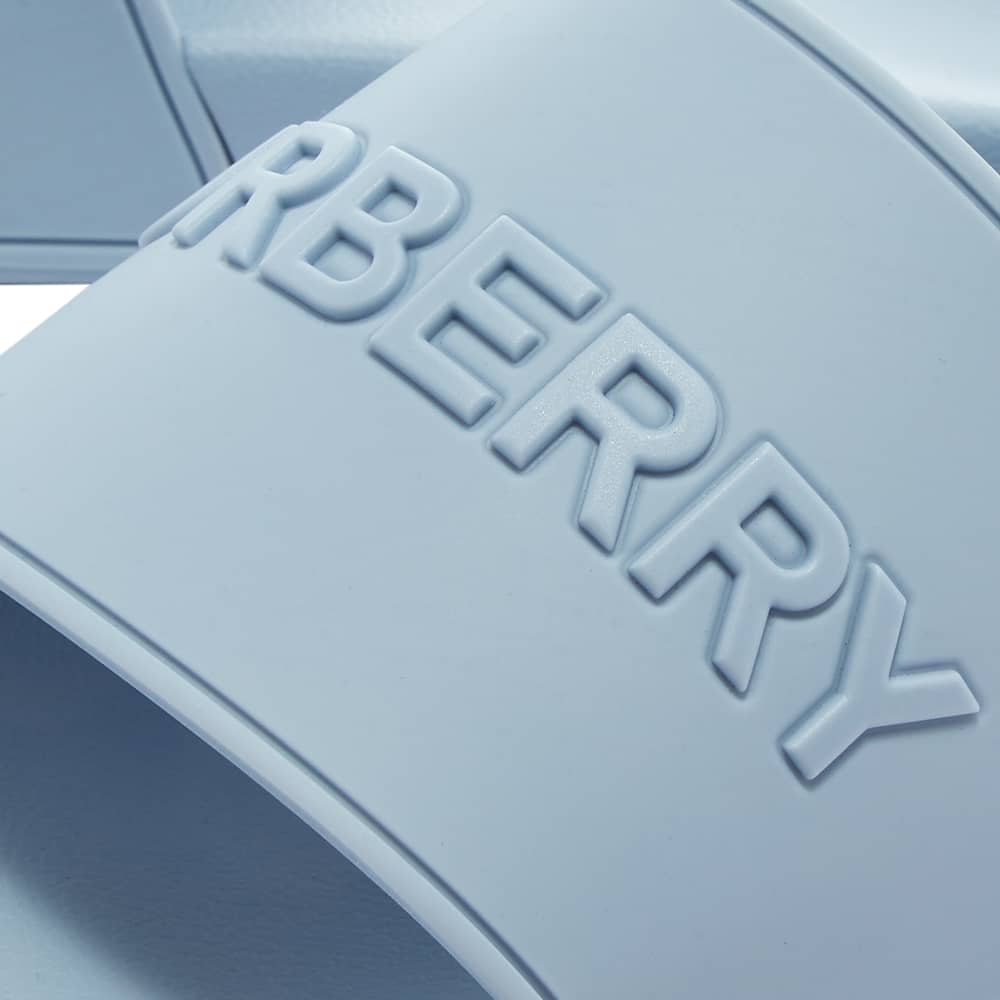 Burberry Furley Logo Slide - Pale Blue