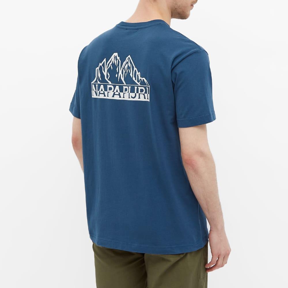 Napapijri Small Logo Tee - Blue French