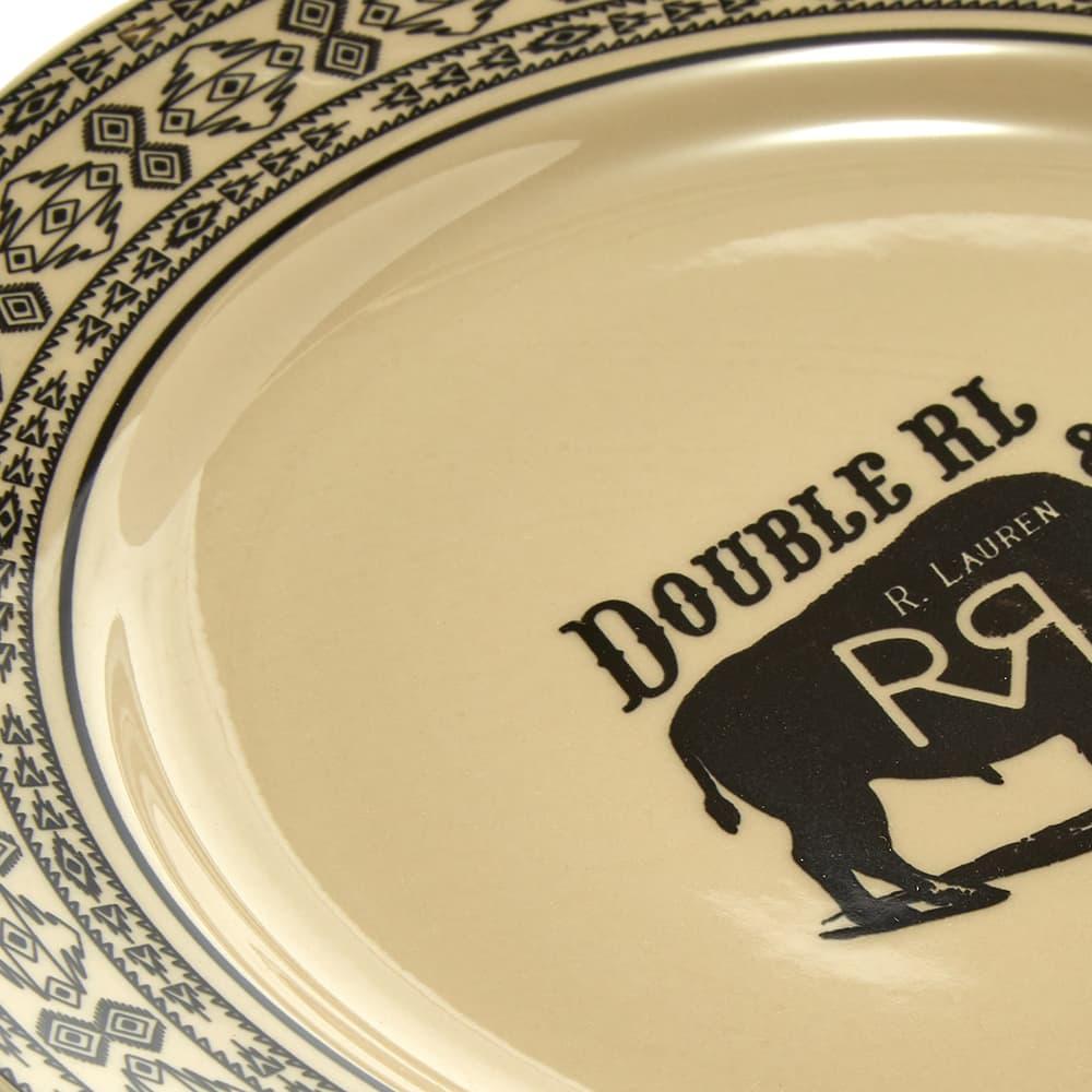 RRL Logo Dinner Plate - Cream & Black