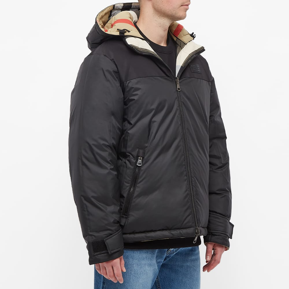 Burberry Rutland Reversible Down Jacket - Archive Beige Check & Black