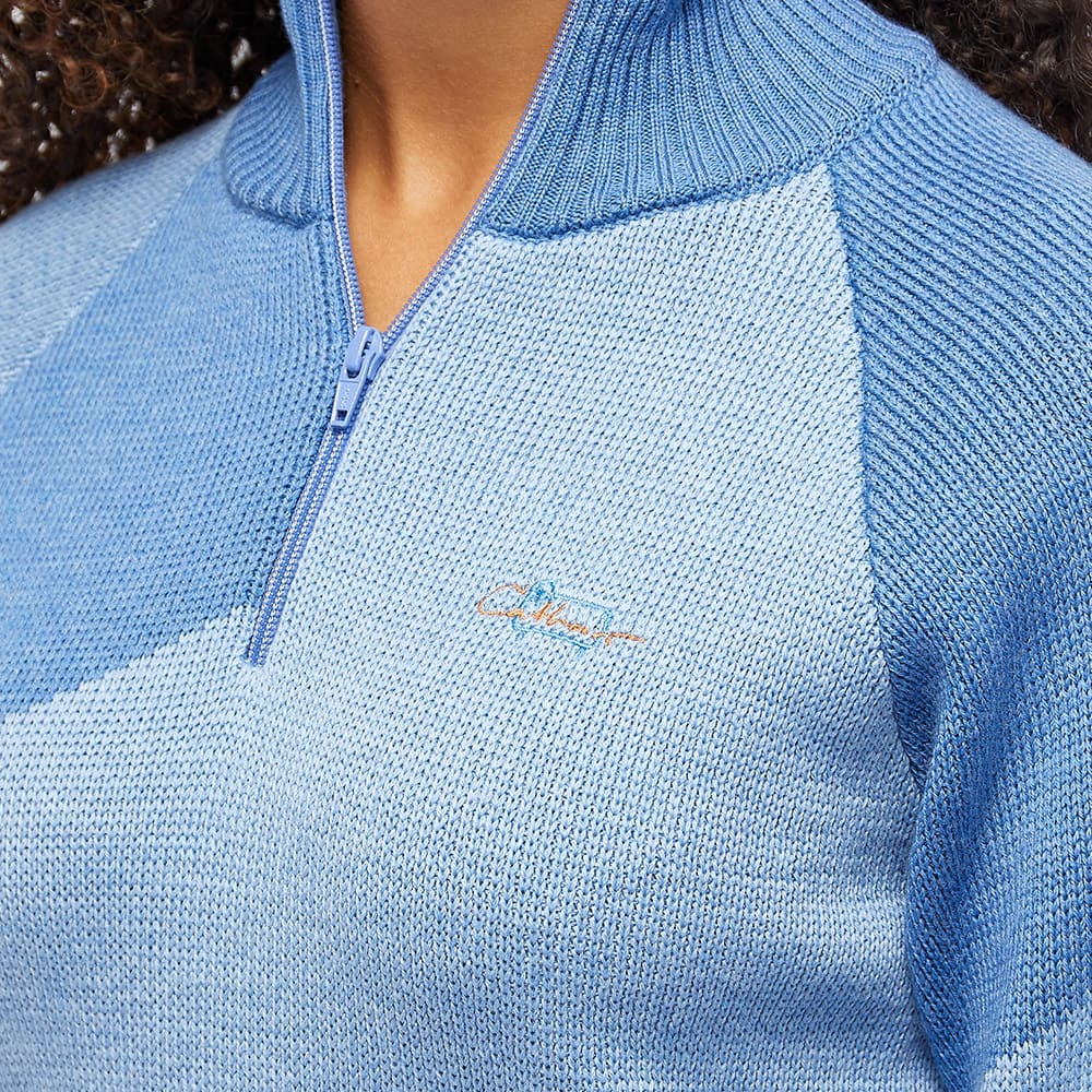 Daniëlle Cathari x Woolrich Merino Zip Up Jumper - Light Classic Blue