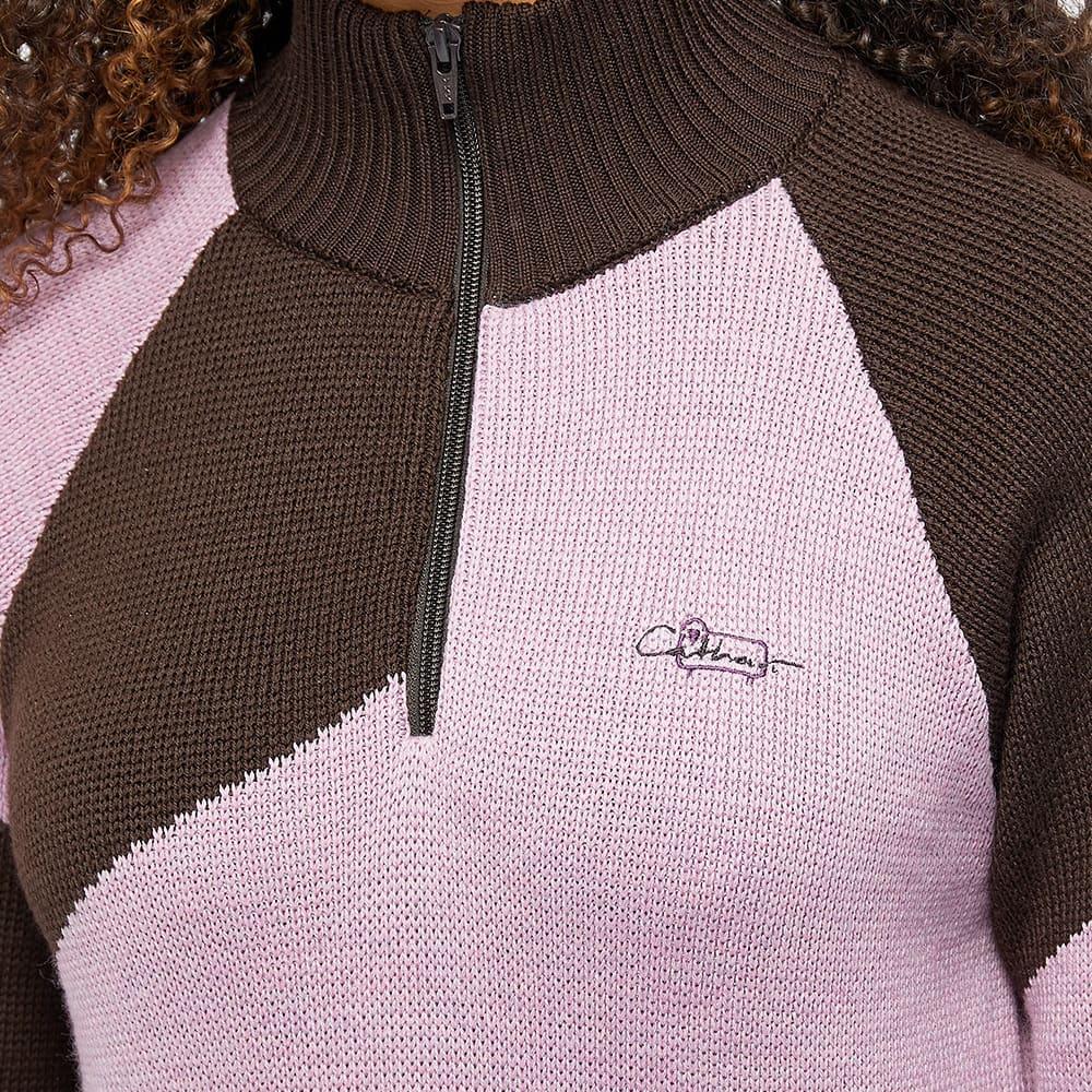 Daniëlle Cathari x Woolrich Merino Zip Up Jumper - Rose Brown