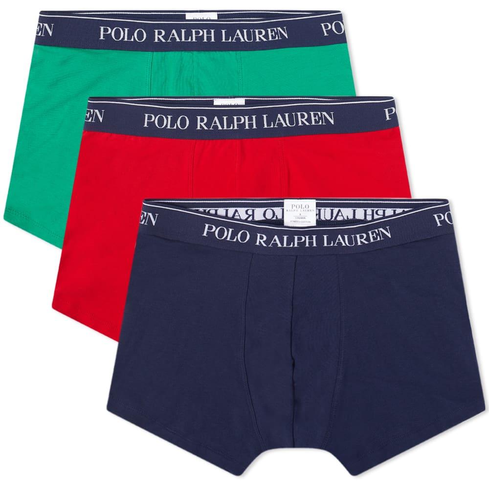 Polo Ralph Lauren Cotton Trunk - 3 Pack - Navy, Red & Green