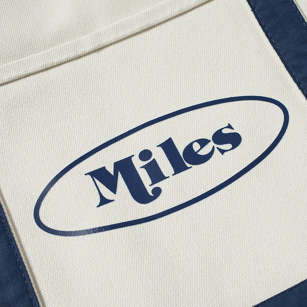 Miles Classic Logo Canvas Tote - Natual Navy