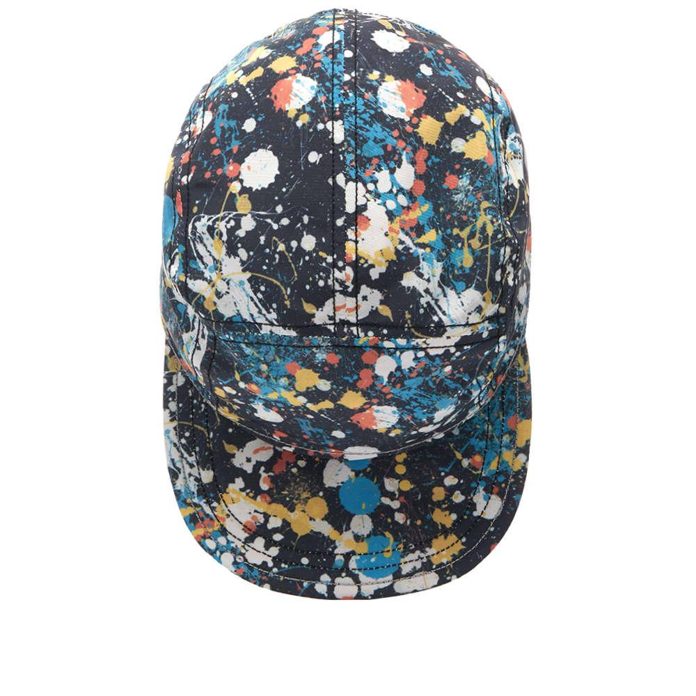 And Wander Splatter Print Cap - Multi Black