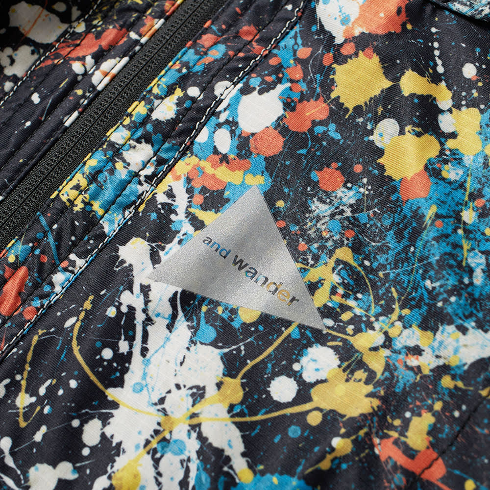 and wander Splatter Print Raschel Rip Jacket - Multi Black
