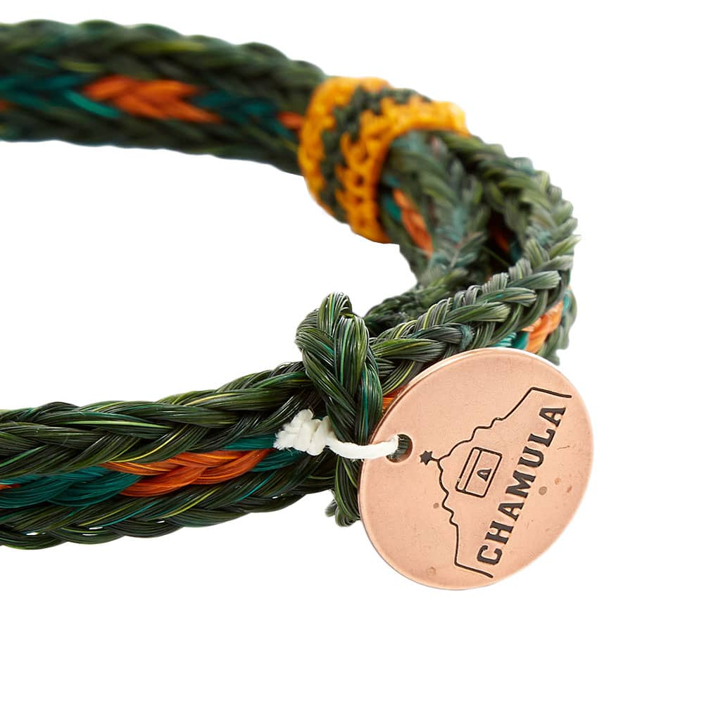 Chamula Braided Horsehair Bracelet - Black, Aqua & Yellow
