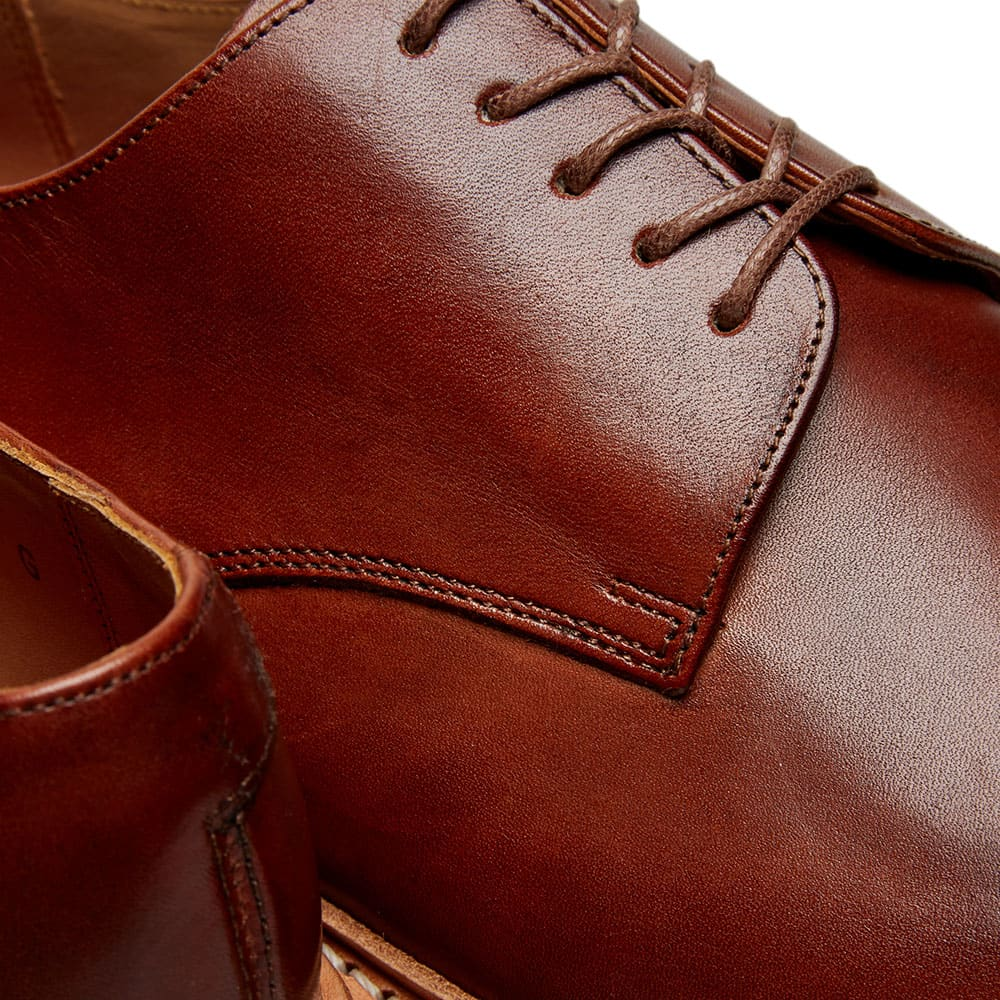 Grenson Curt Derby Shoe - Tan Hand Painted