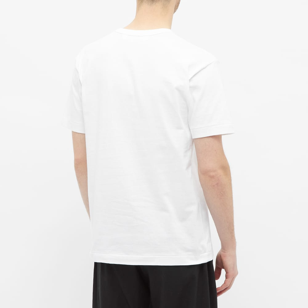 Comme des Garcons Play Multi Logo Tee - White & Red