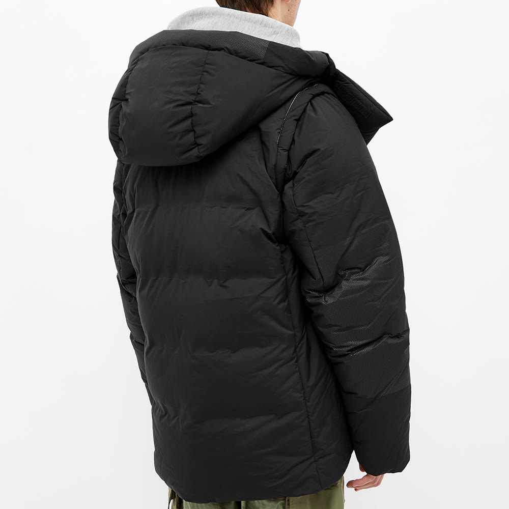 and wander Heather Rip Down Jacket - Black