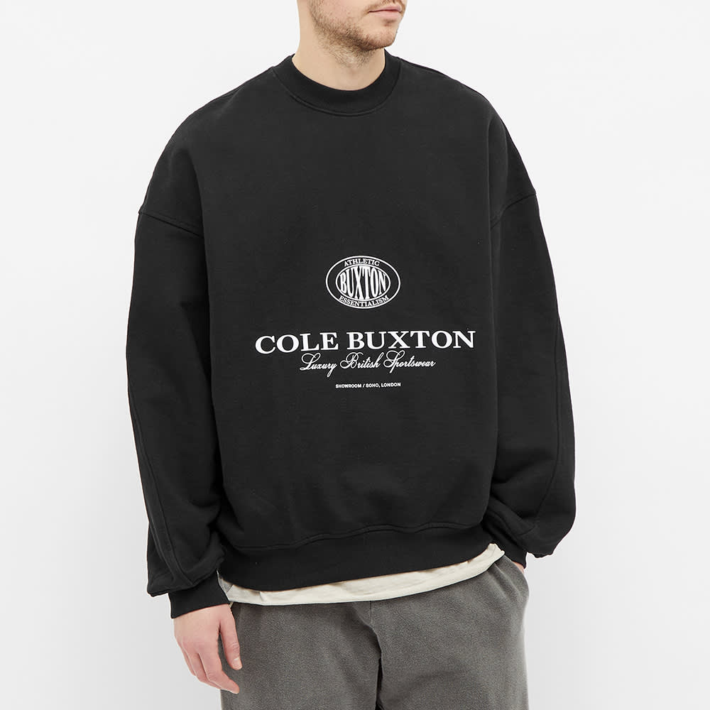 Cole Buxton Crest Logo Crew Sweat - Black