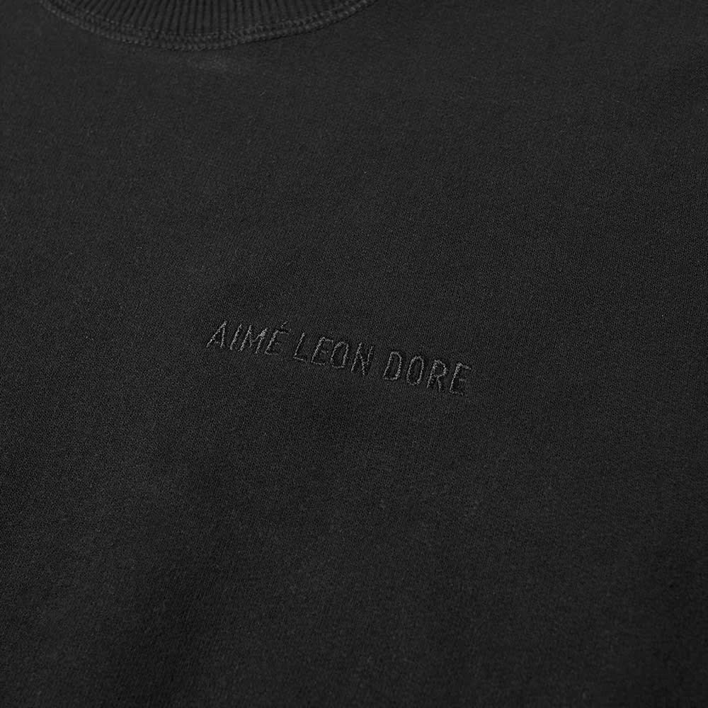 Aimé Leon Dore Tonal Logo Crew Sweat - Jet Black