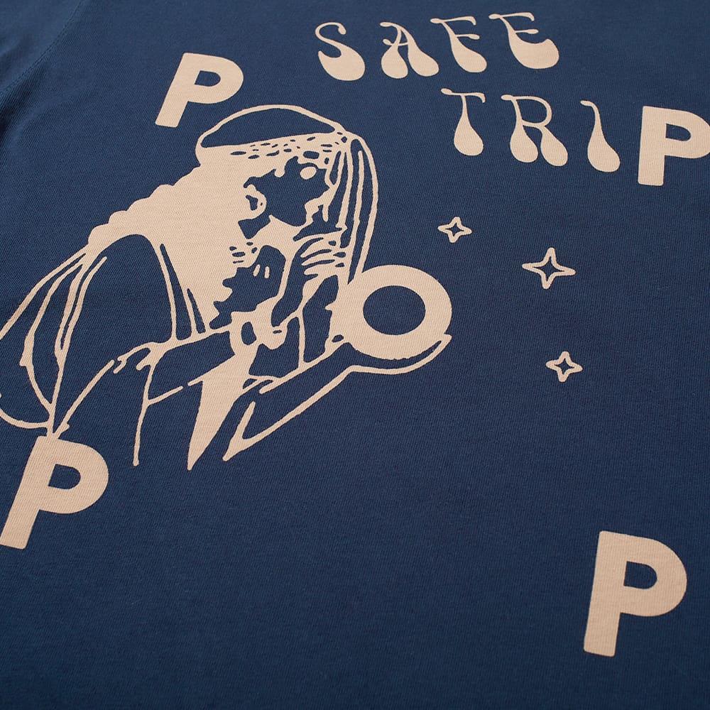 POP Trading Company x Safe-Trip.org Long Sleeve Tee - Navy