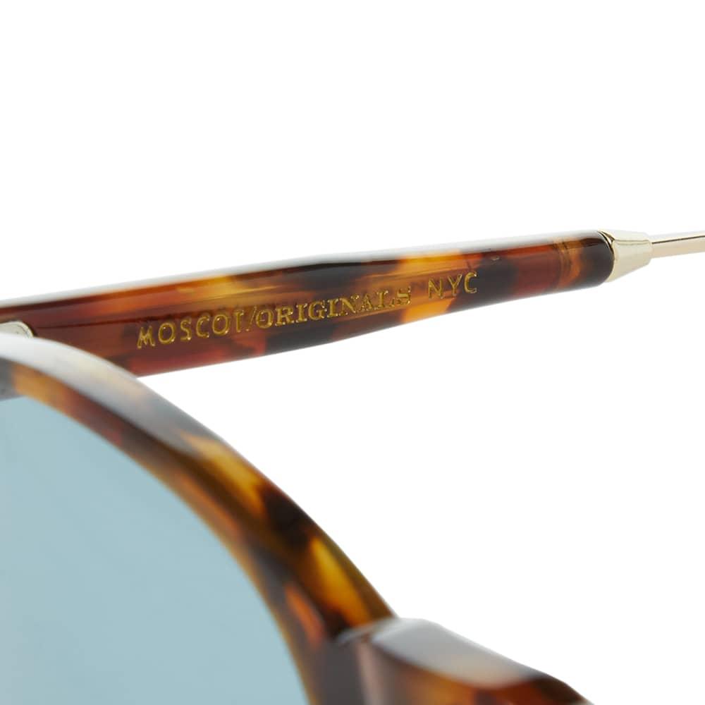 Moscot Golda Sunglasses - Spot Tortoise & Blue