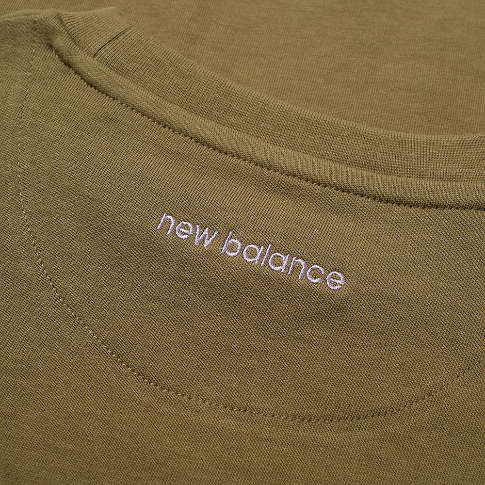 END. x New Balance Rainbow Eucalyptus Logo Tee - Burnt Olive
