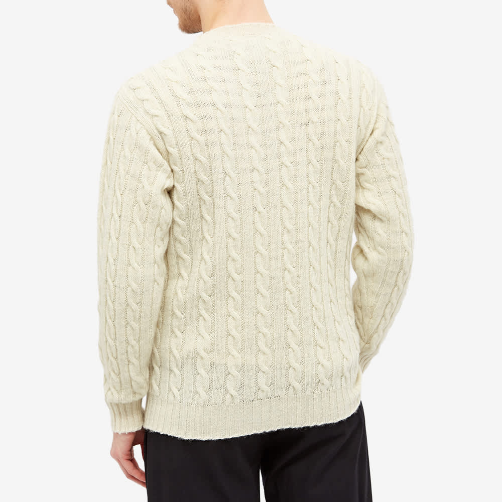 Jamieson's of Shetland Cable Crew Knit - Natural White