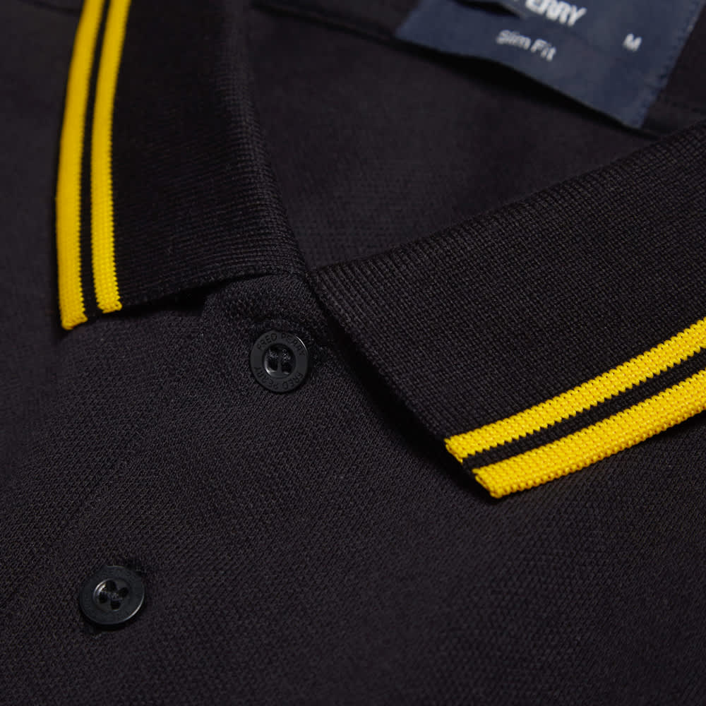 Fred Perry Slim Fit Twin Tipped Polo - Black & New Yellow