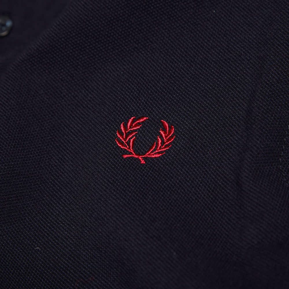 Fred Perry Slim Fit Twin Tipped Polo - Navy & White