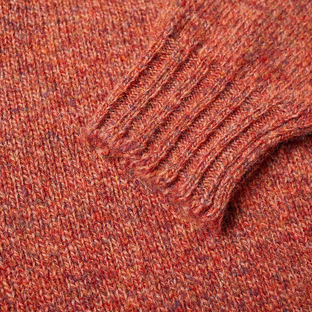 Jamieson's of Shetland Crew Knit - Paprika & Flame