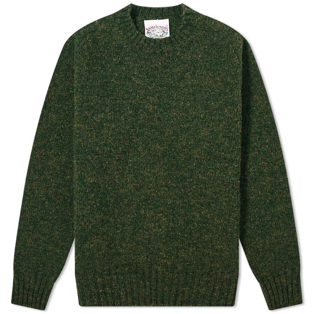 Jamieson's of Shetland Crew Knit - Pine