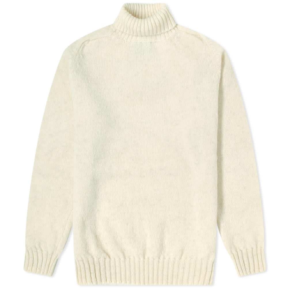 Jamieson's of Shetland Roll Neck Knit - Natural White