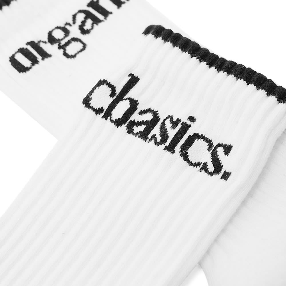 Organic Basics SilverTech Active Tennis Sock - White