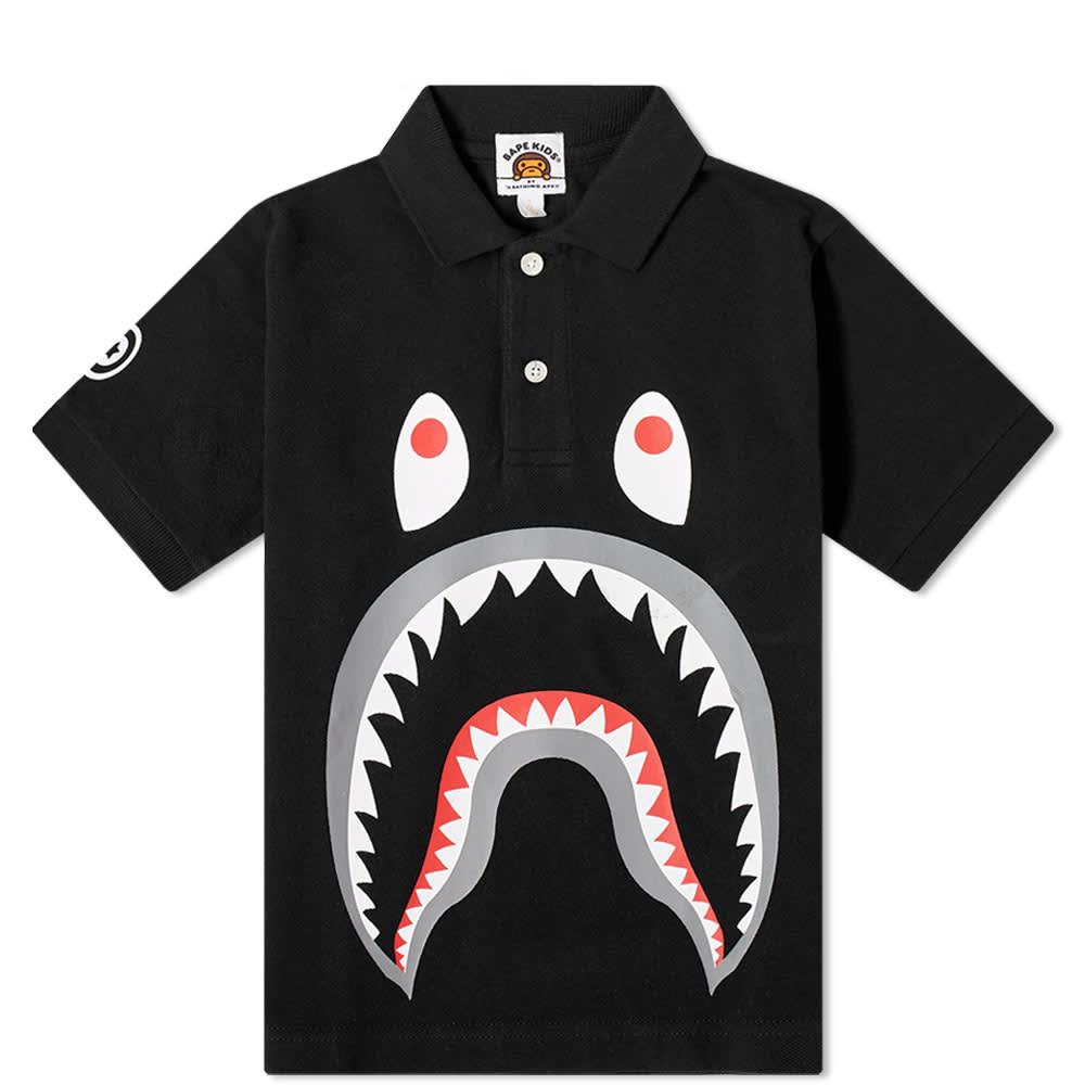A Bathing Ape Kids Shark Polo - Black