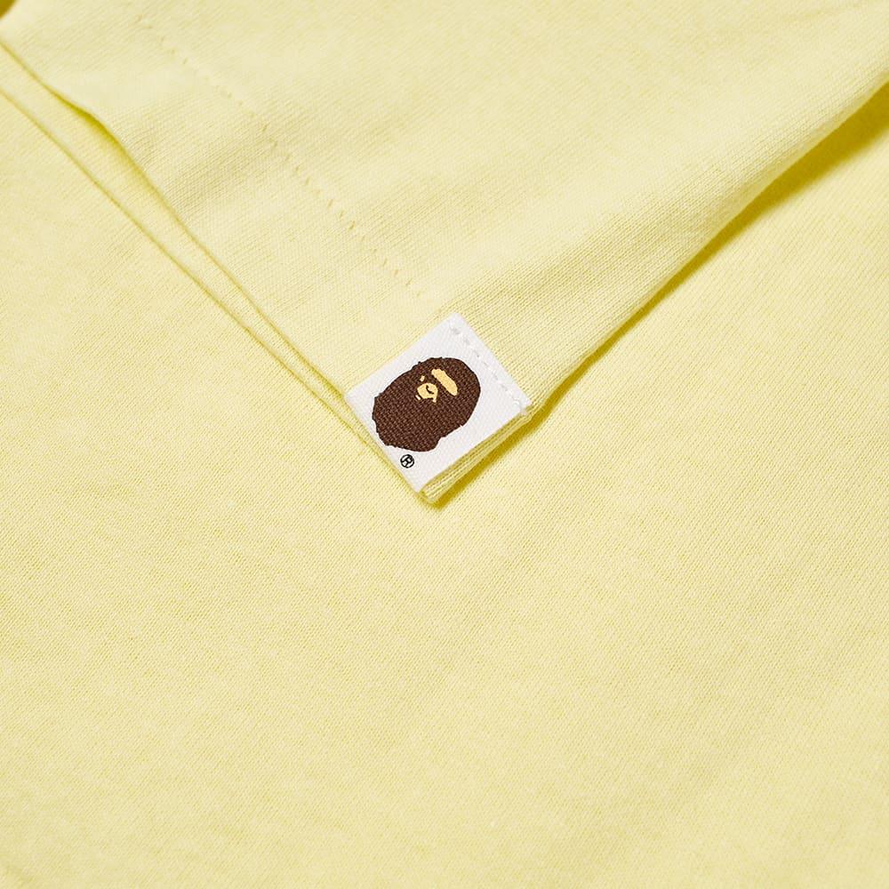 A Bathing Ape Kids Bicolour College Tee - Yellow
