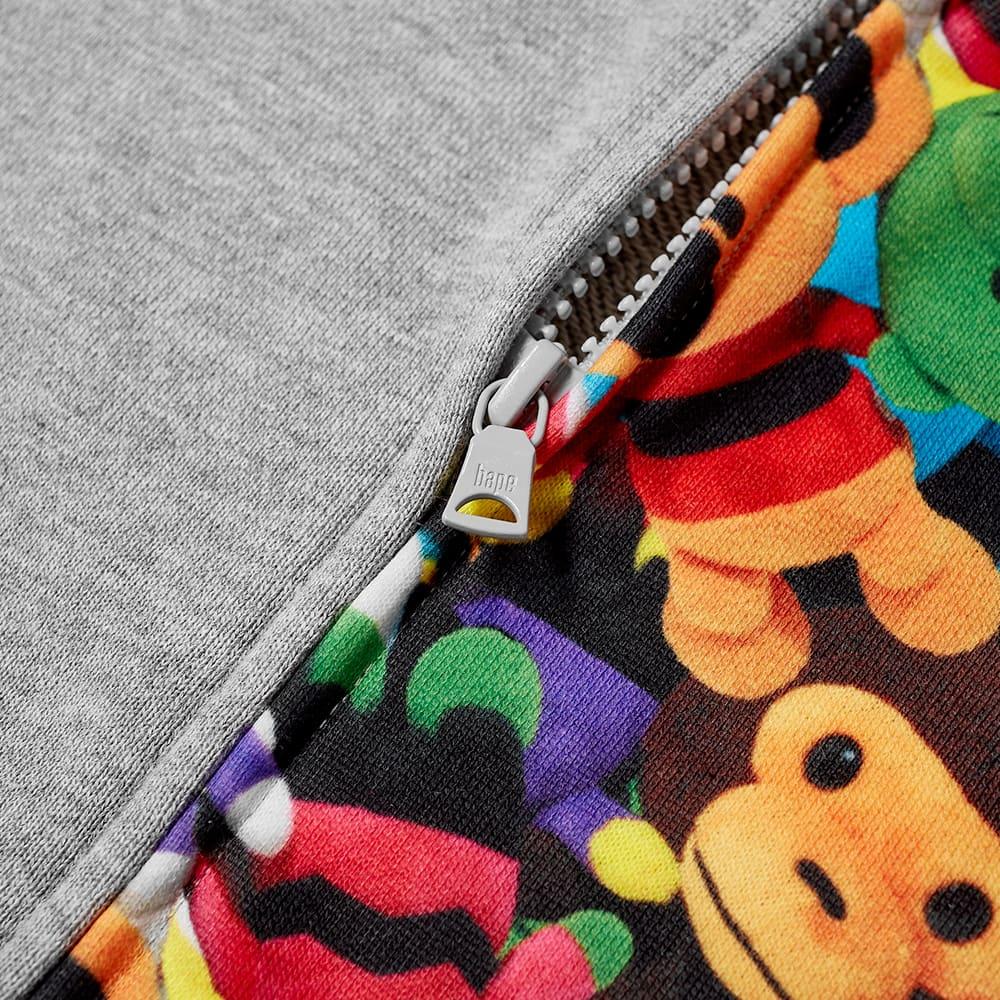 A Bathing Ape Kids Milo Monogram Sta Full Zip Hoody - Grey