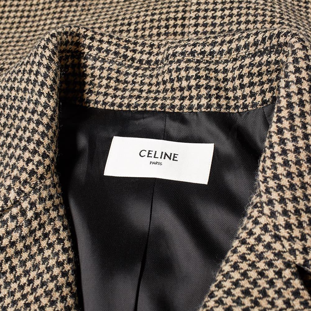 Celine Houndstooth Raglan Coat - Houndstooth Check