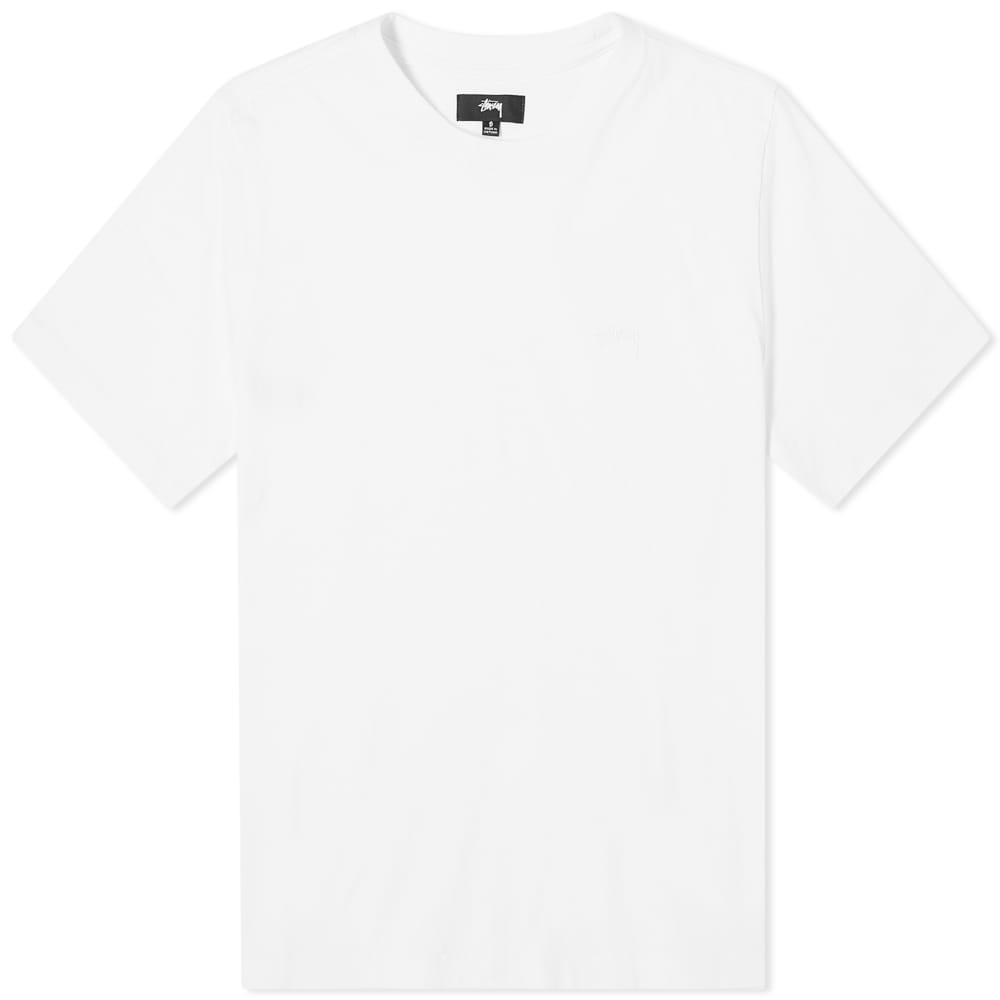 Stussy Stock Logo Tee - White