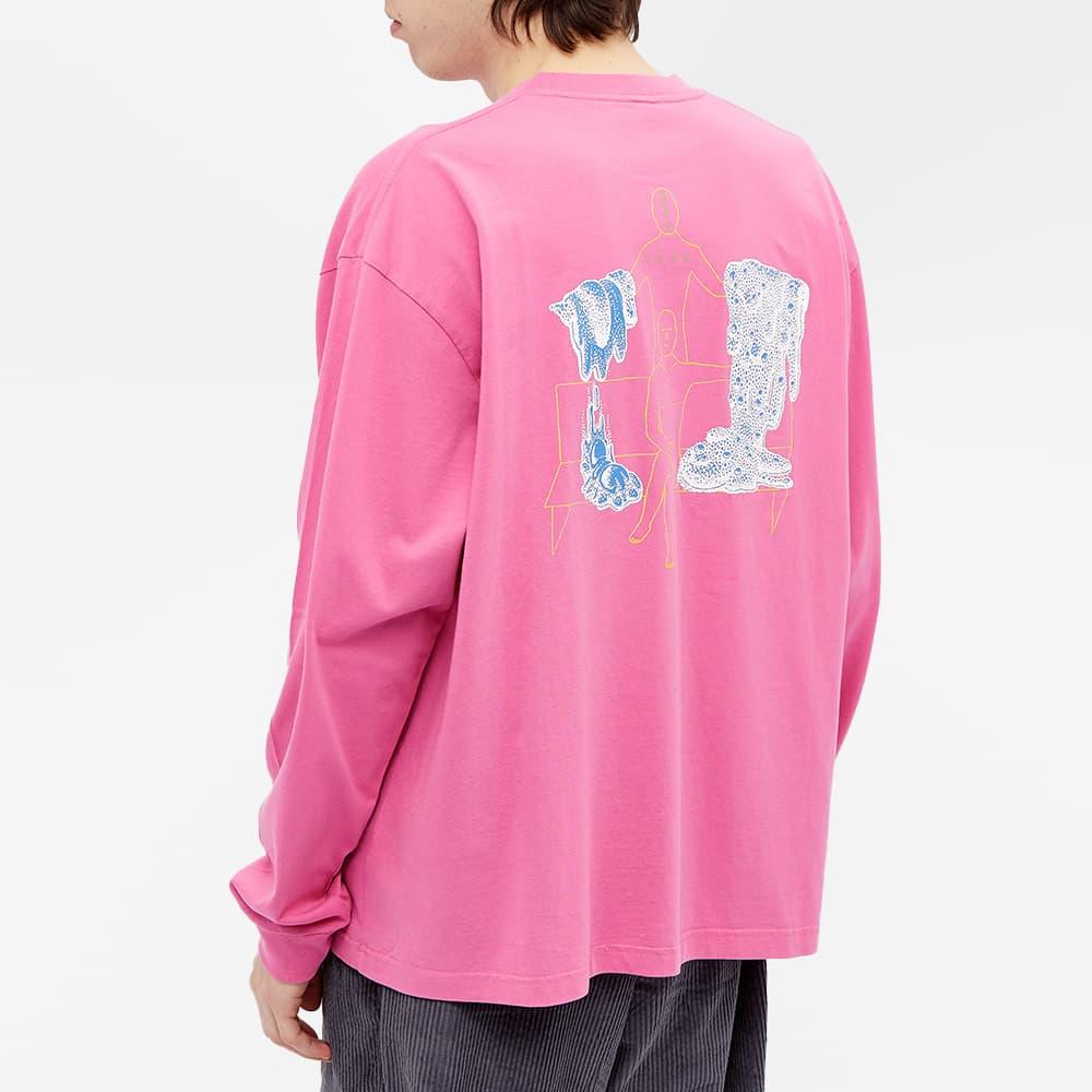 Brain Dead Goop Long Sleeve Tee - Washed Pink
