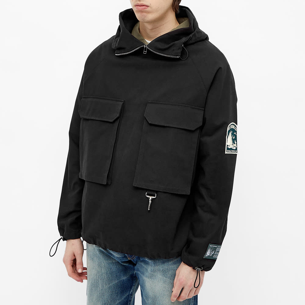 Reese Cooper Brushed Cotton Canvas Anorak - Black