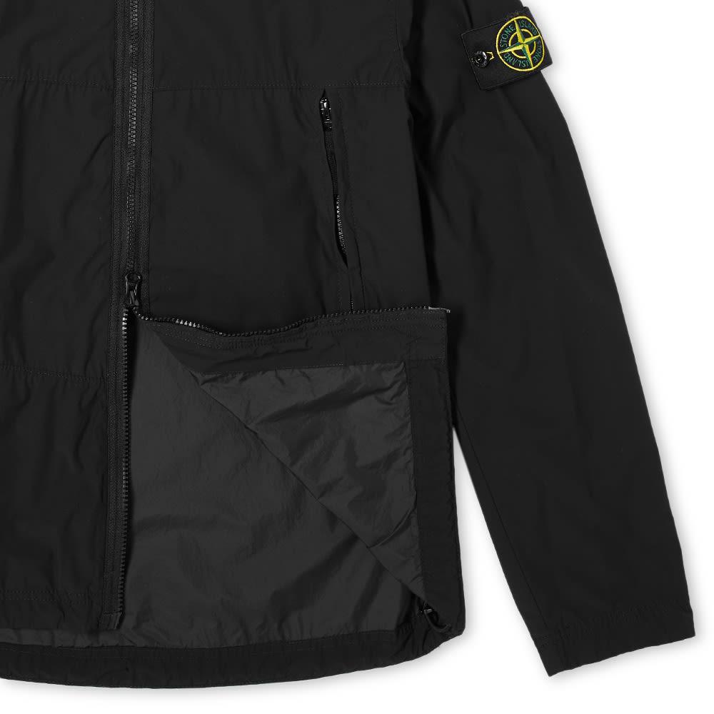 Stone Island Nylon Garment Dyed Hooded Jacket - Black