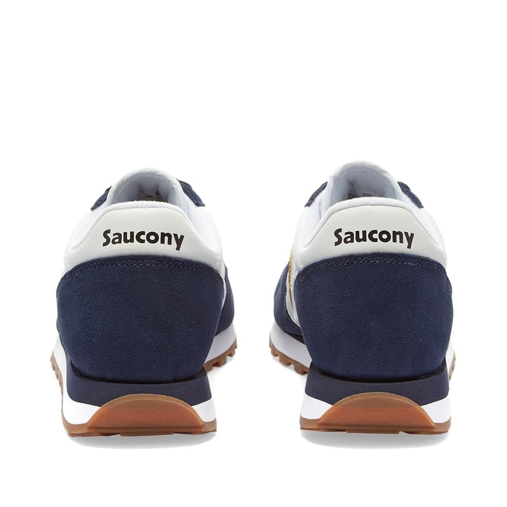 Saucony Jazz Original - White, Navy & Gold
