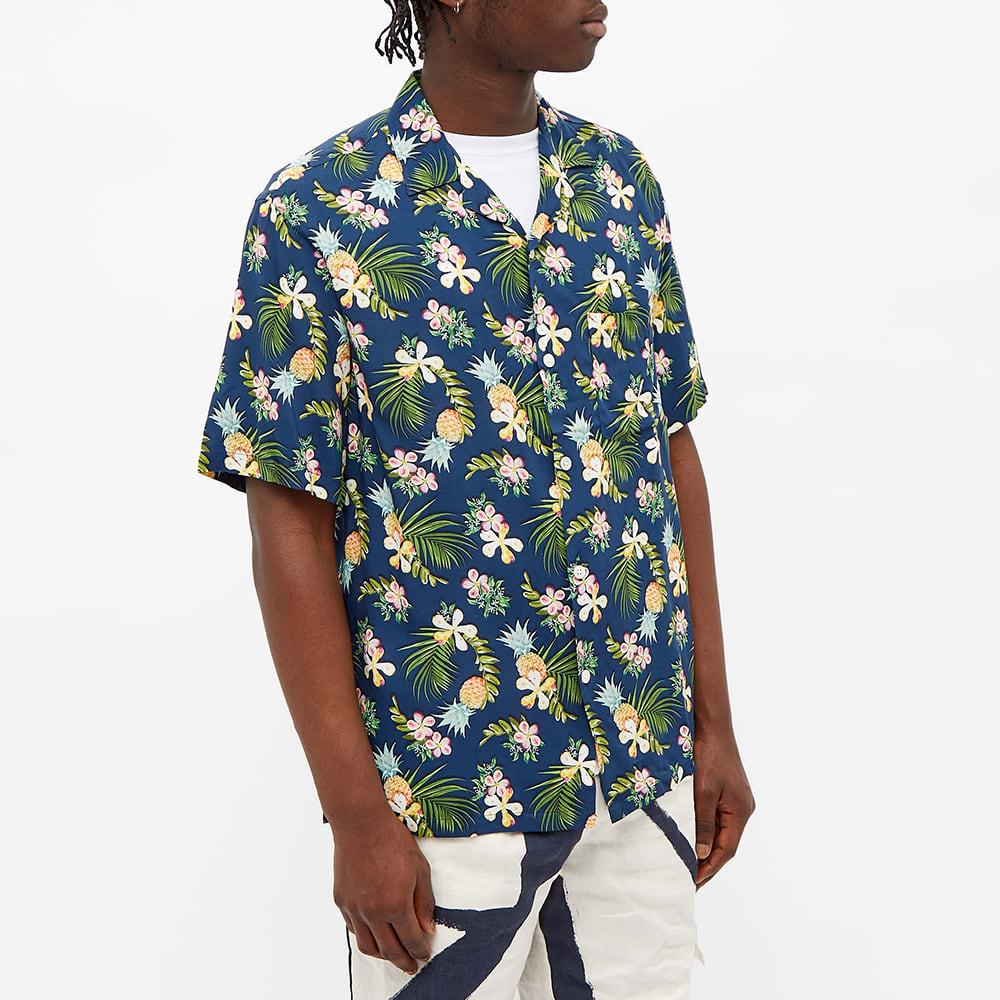 Portuguese Flannel Tropical Fruit Vacation Shirt - Blue