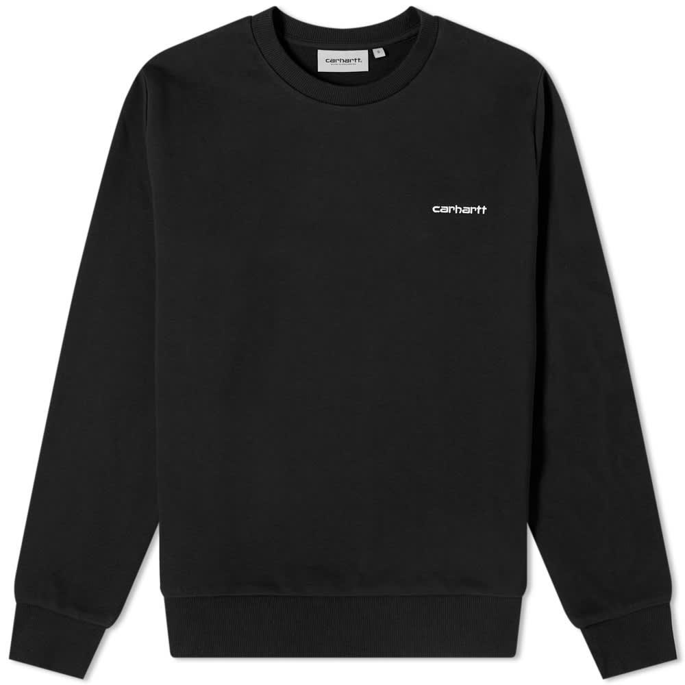 Carhartt WIP Script Embroidery Sweat - Black & White