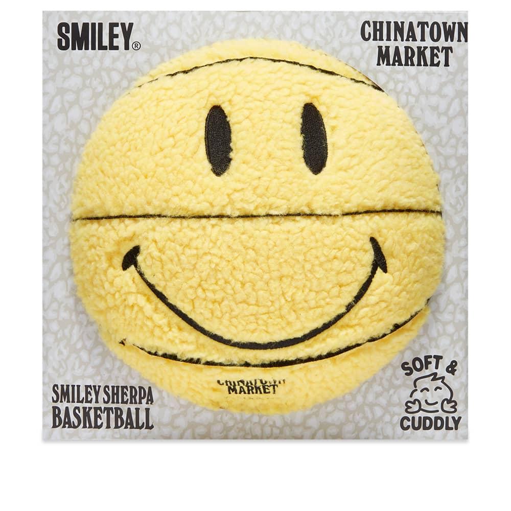 Chinatown Market Smiley Sherpa Basketball - Yellow