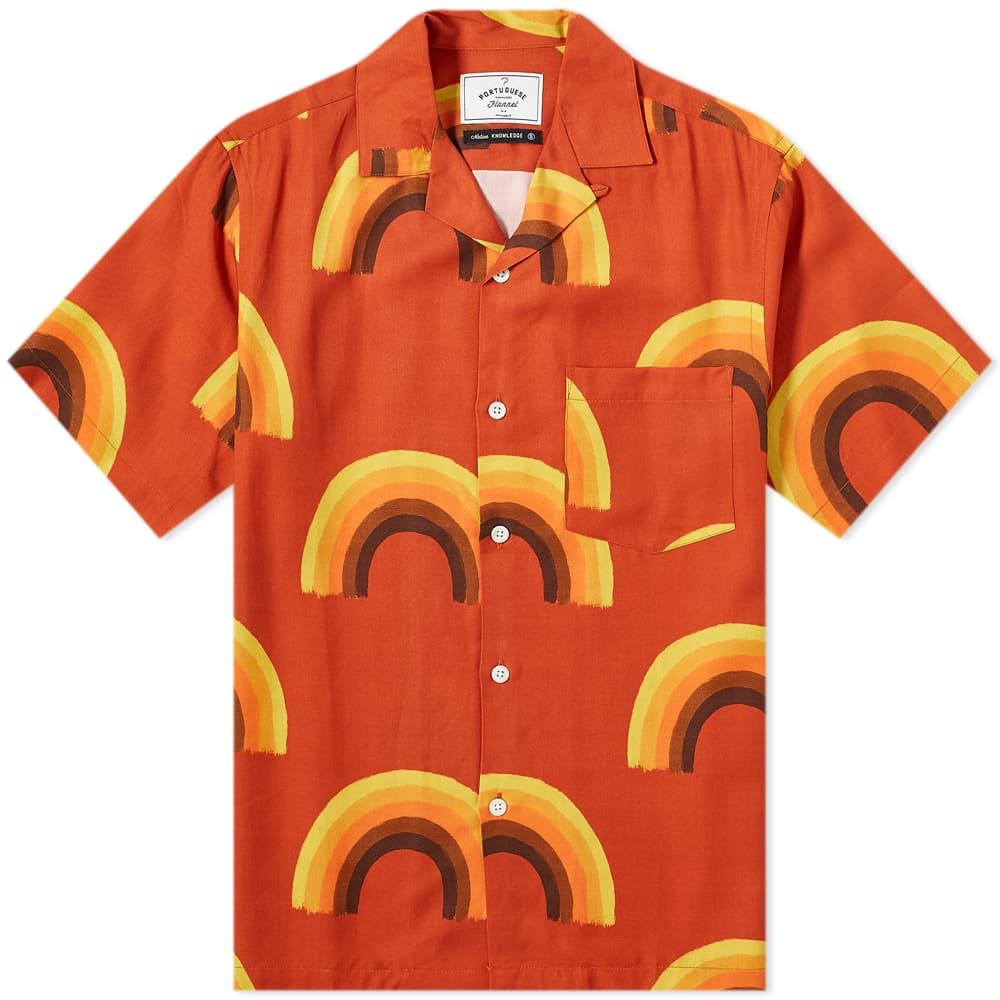 Portuguese Flannel Rainbow Vacation Shirt - Multi