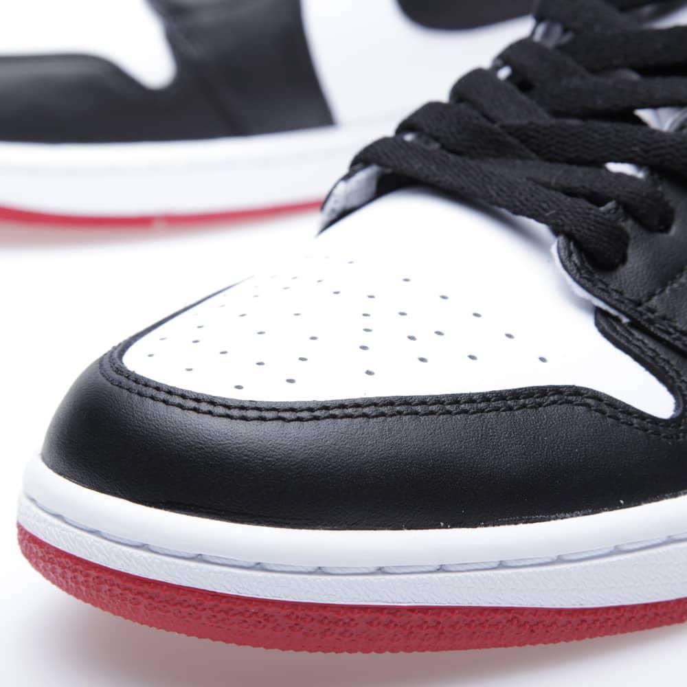Nike Air Jordan 1 Retro 'Black Toe' - White, Black & Gym Red