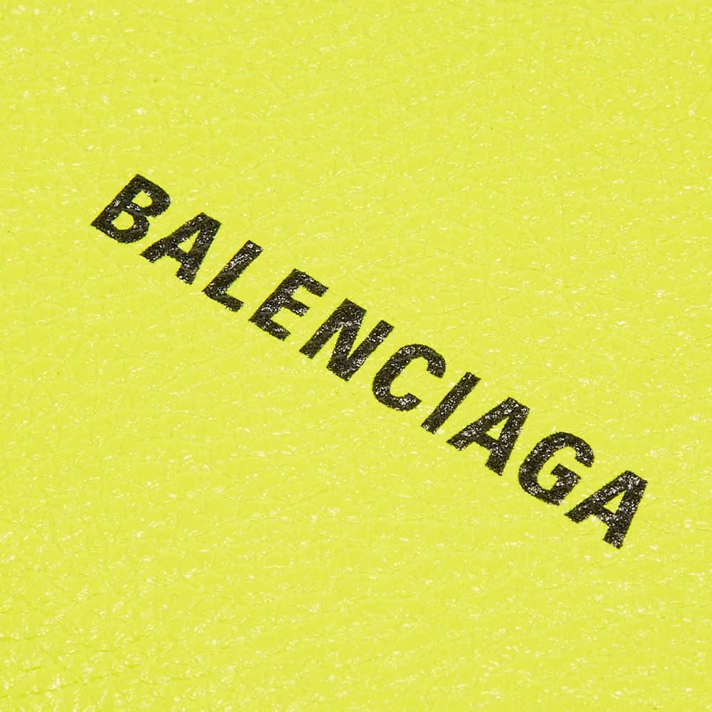 Balenciaga Logo Zip Pouch - Fluo Yellow & Black