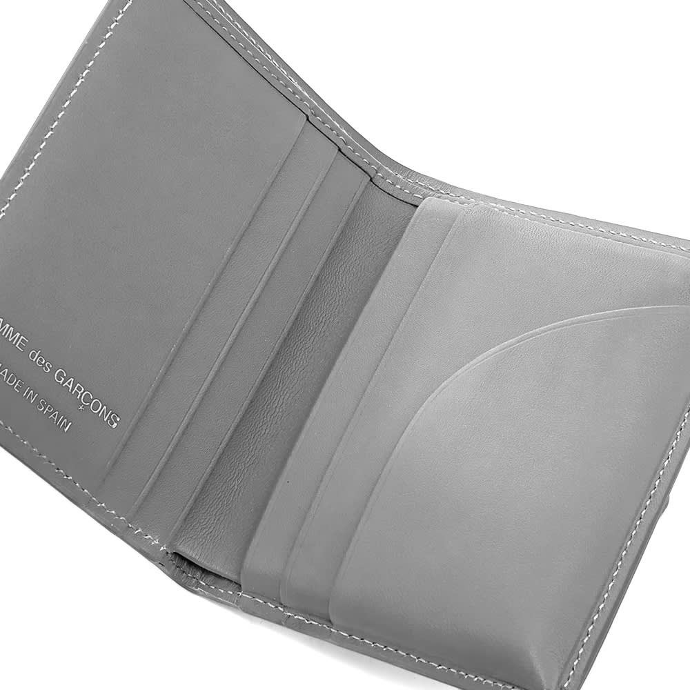 Comme des Garcons Sa0641Pd Dots Printed Leather Bifold - Grey