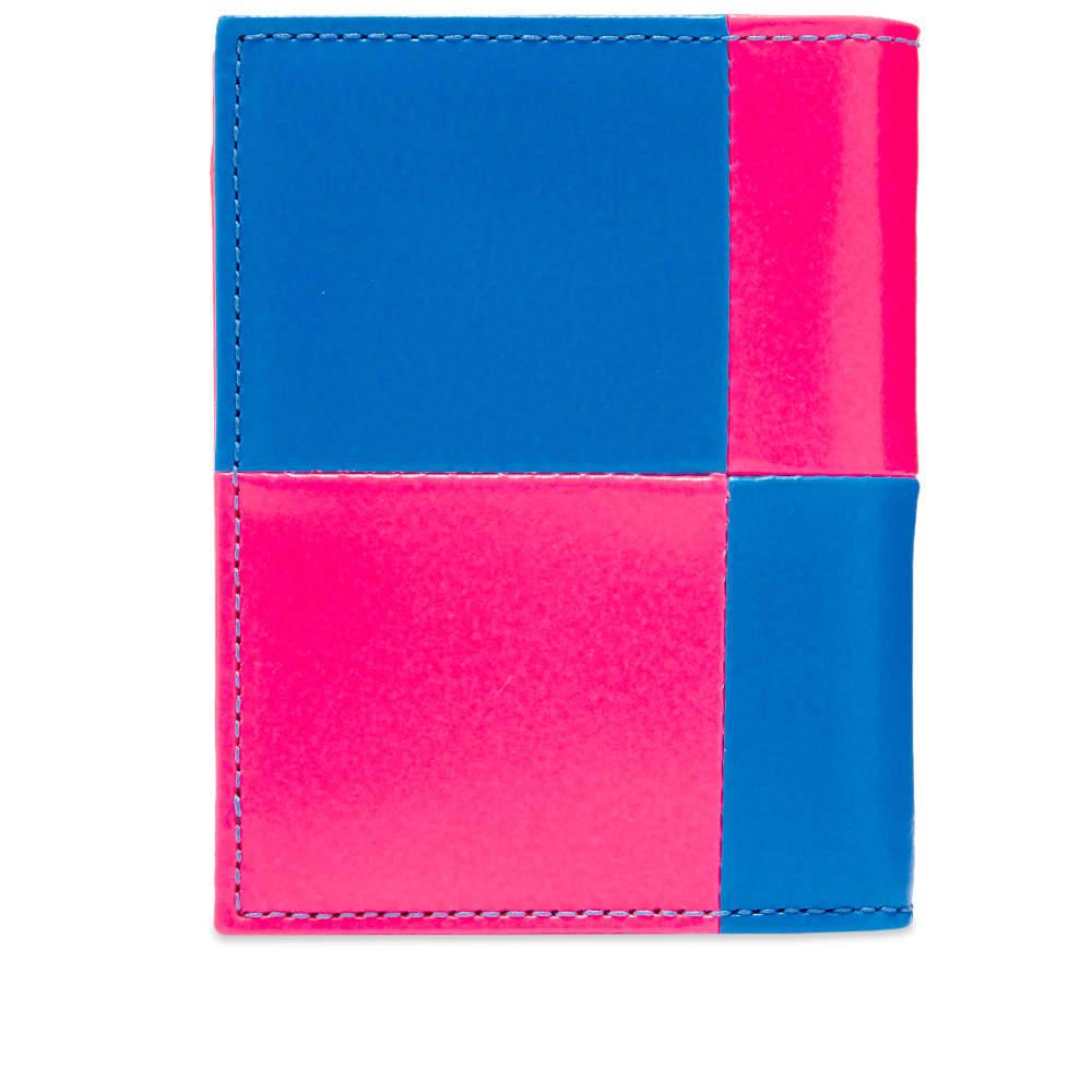Comme des Garcons Sa0641Fs Fluo Squares Classic Wallet - Pink & Blue