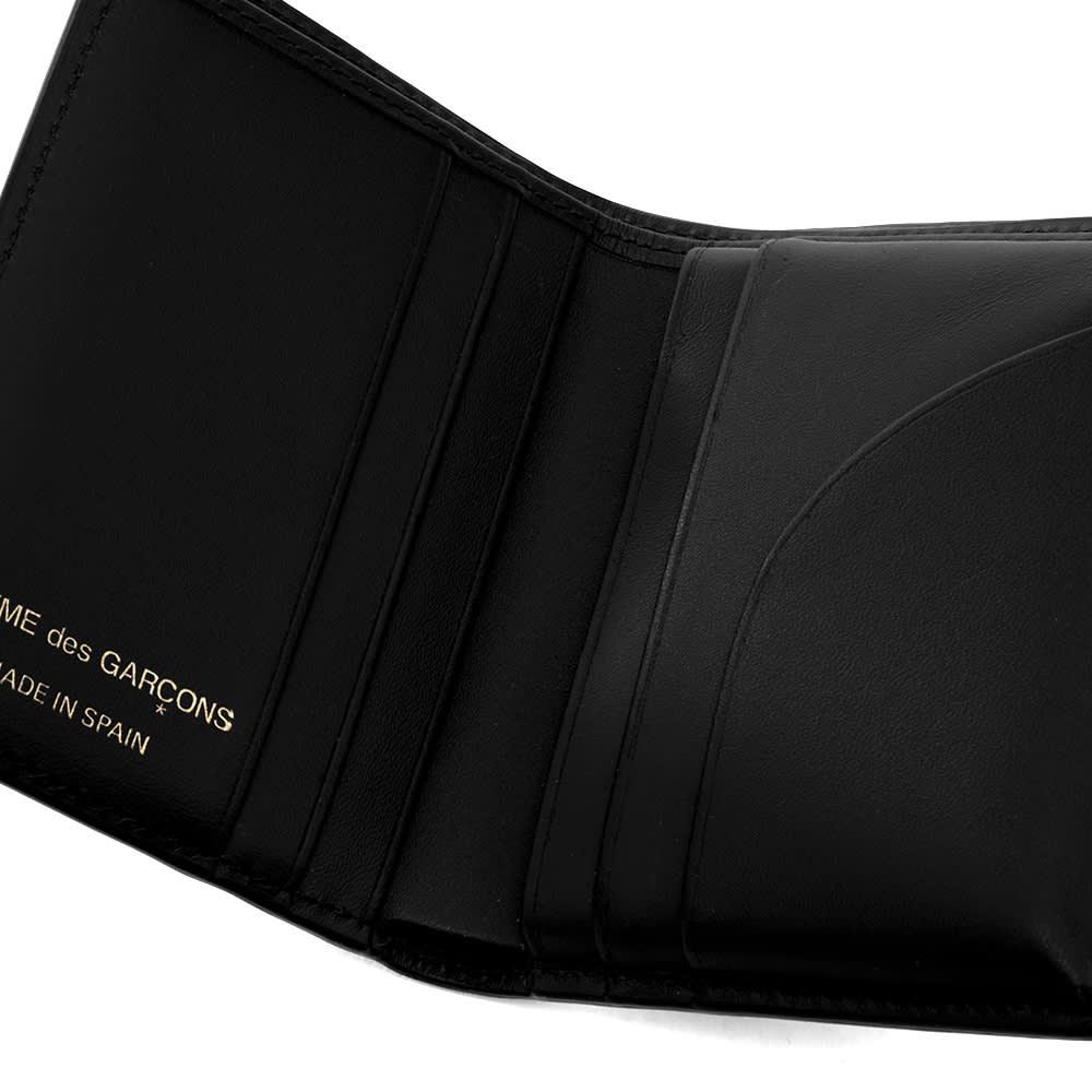Comme des Garcons Sa0641Pd Dots Printed Leather Bifold - Black