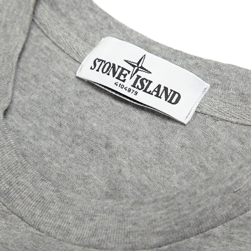 Stone Island Jersey Embroidered Logo Tee - Grey Marl