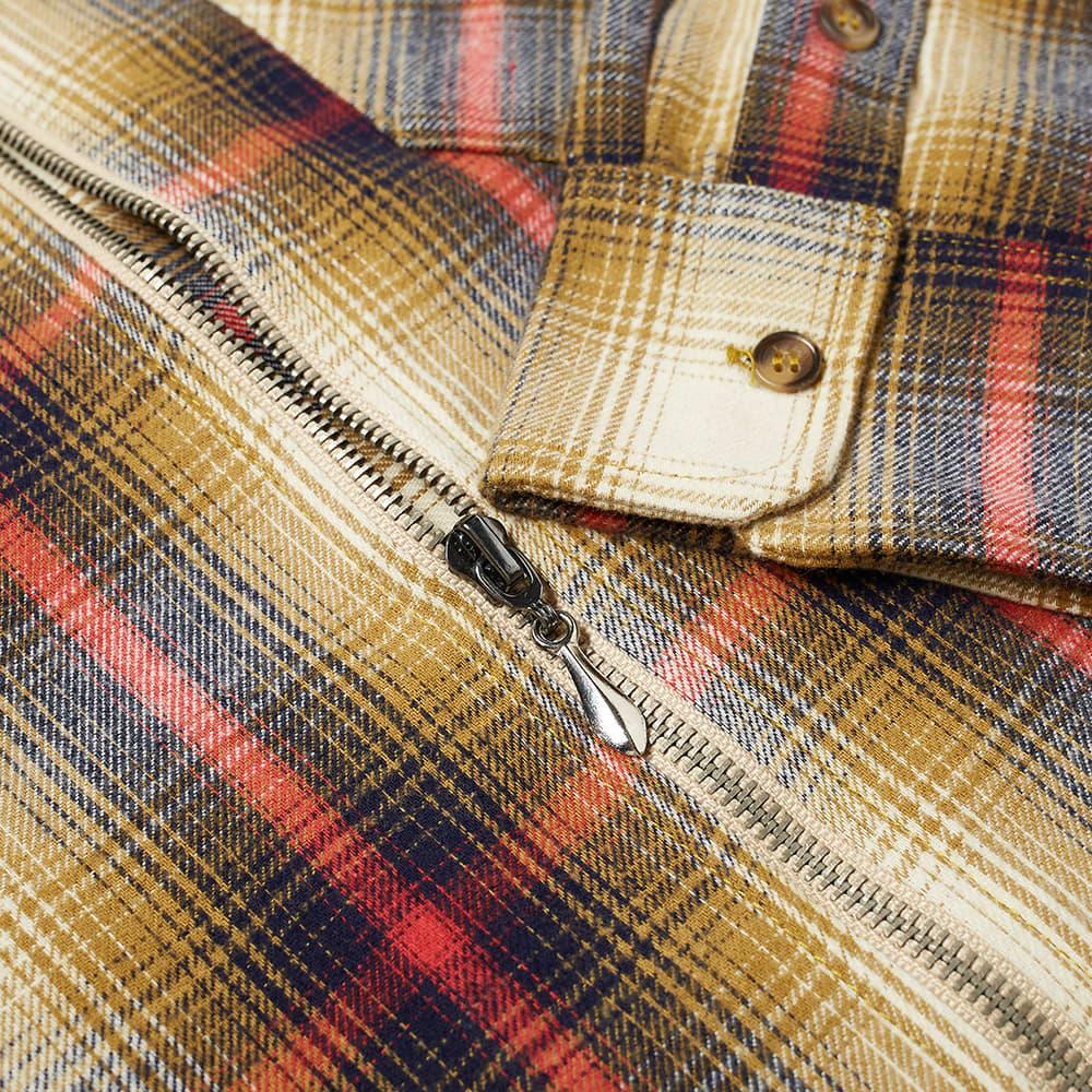 Andrew Flannel Zip Shirt Jacket - Blue