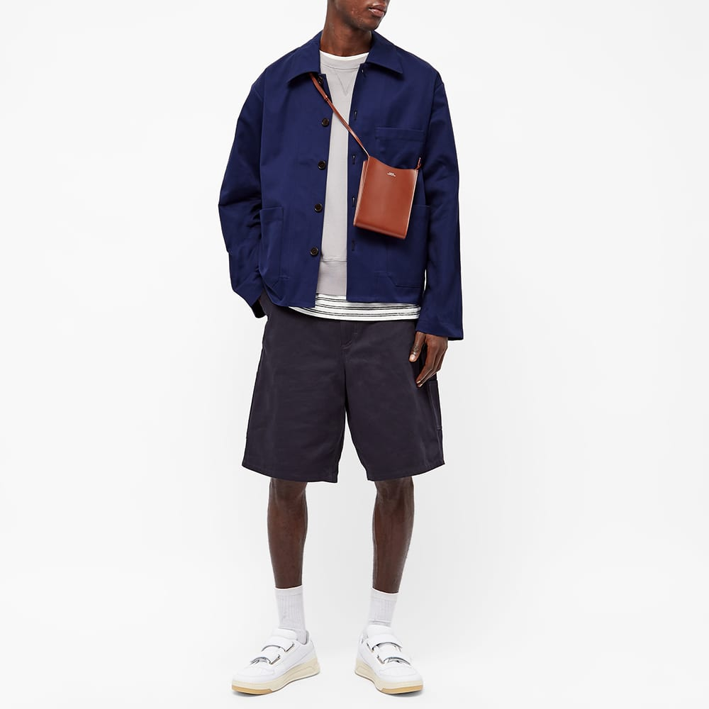 Acne Studios Okey Heavy Twill Pink Label Jacket - Dark Blue